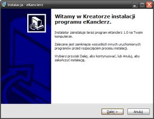 Ilustracja 1.2. Instalator - ekran powitalny